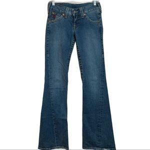 True Religion Joey Flare Horseshoe Flap Pocket